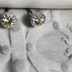 NEW 3 FOR 35 YELLOW DIAMOND STUD EARRINGS